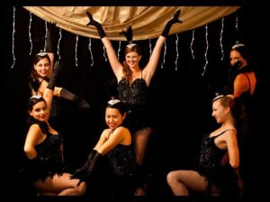 My first showgirl performance at 16, I'm the blond in the bottom right corner.