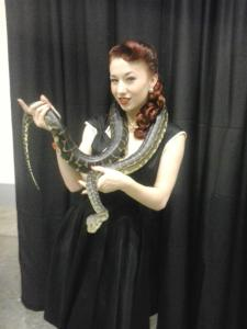 Yours truly holding Gomez, Emerald Mamba's beautiful python.