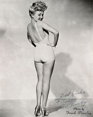 Betty Grable's iconic swimsuit shot.