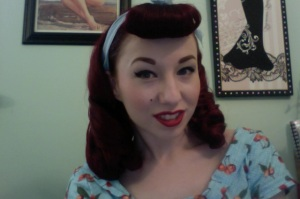 Ta-da pinup perfect hair!