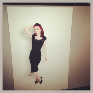 Preview of an unedited photo from the shoot. I'm wearing the fabulous Nightlife Dress.