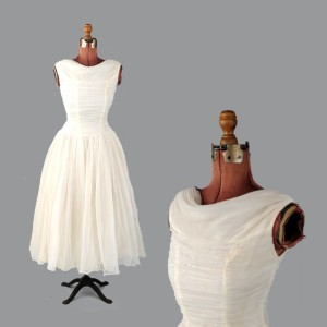 1950's wedding dress, from The Collectionary