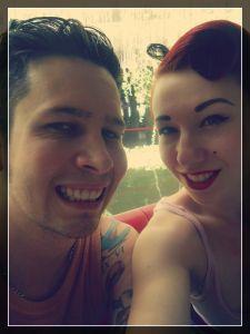 My beautiful fiancé and I.