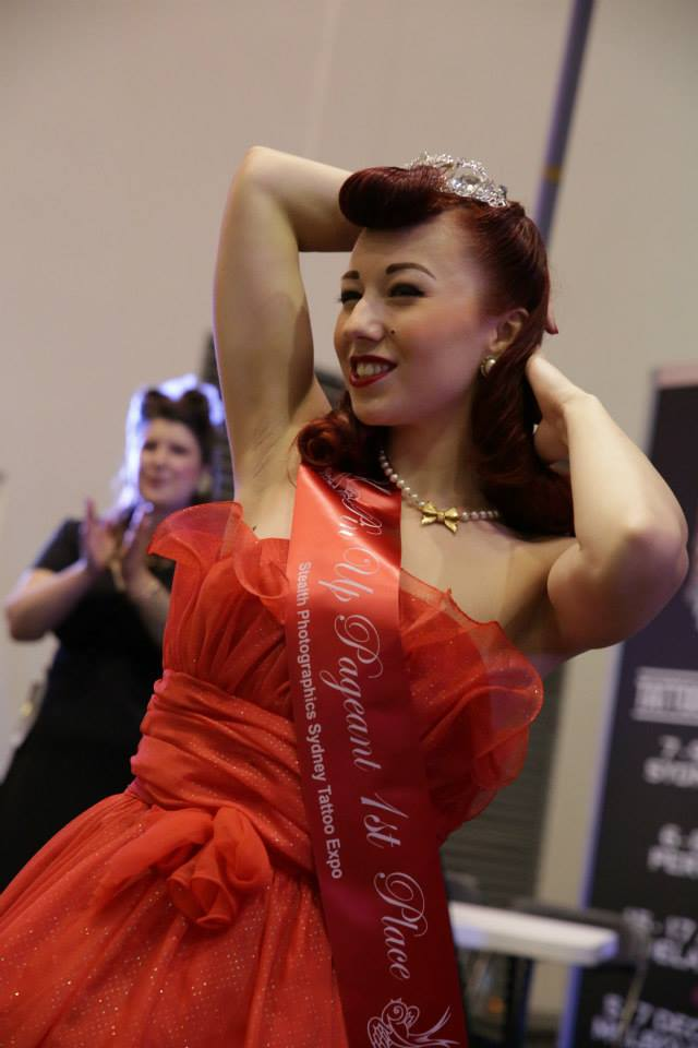 Australian tattoo expo pinup pageant miss lady lace 39 s for Miss tattoo pageant