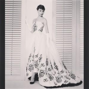 Audrey Hepburn in Sabrina.