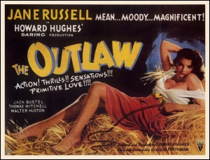 The Outlaw movie poster, artwork by Zoe Mozert.
