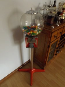 Gumball machine, because you need one of these.