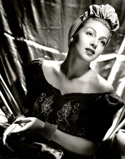 Opulent vintage turban worn by Lana Turner.