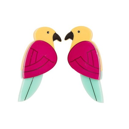 Parrots Paradise earrings by Pretty Dress