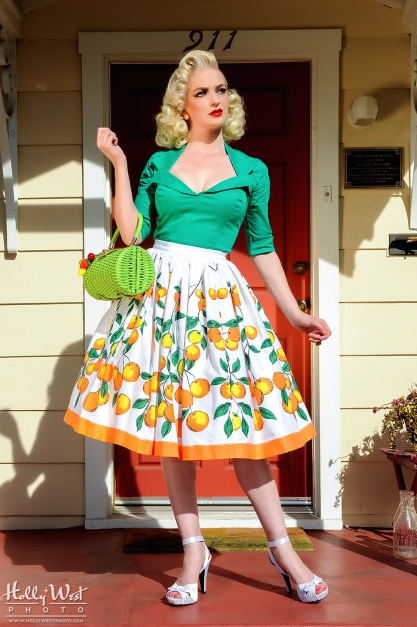 Jenny Skirt from Pin Up Girl Clothing