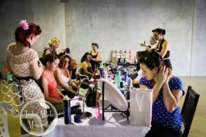 Miss Lady Lace teaching a pinup workshop