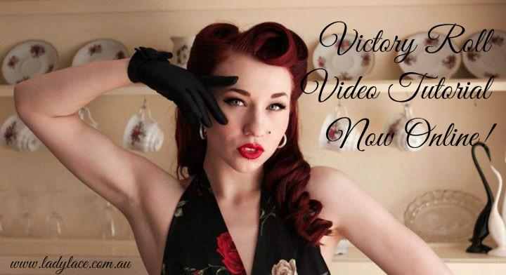 YouTube: Victory Roll Tutorial! | Miss Lady Lace's Vintage Pinup Blog