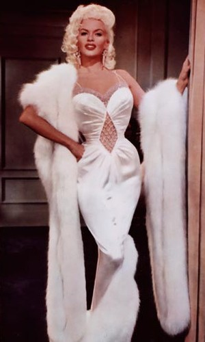 Jayne Mansfield in a wiggle dress