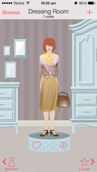 My outfit for today using Dressed App.