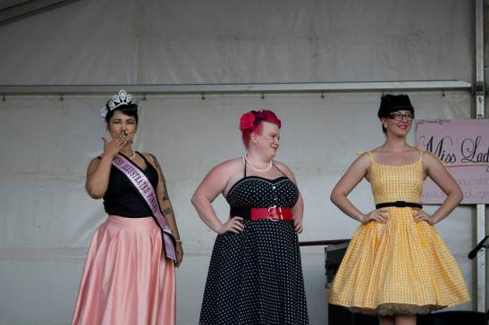 Our beautiful judges for Miss Lady Lace's Pinup Parade