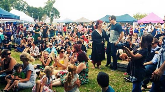 Our beautiful crowd during the Pinup Parade whilst Ivana Be Serious performed.