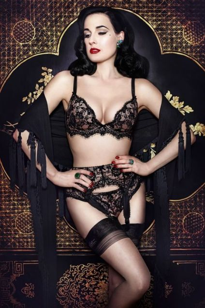 The ever beautiful Dita Von Teese.