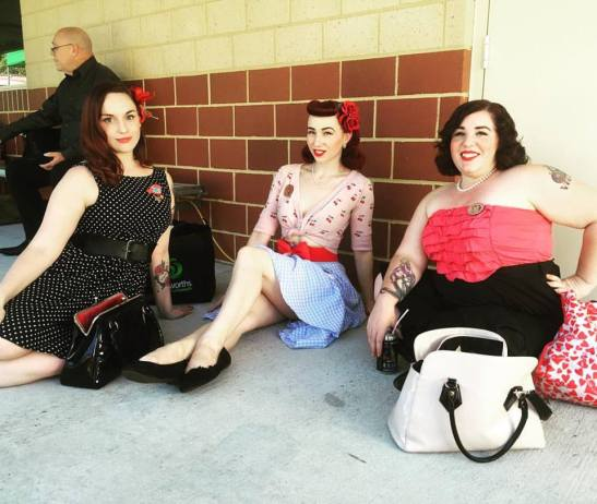 Hanging out in the quadrangle before the show!