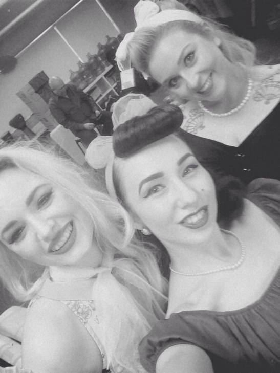 A pre-show selfie with Dolly Von Blonde, and Peggy Jean!