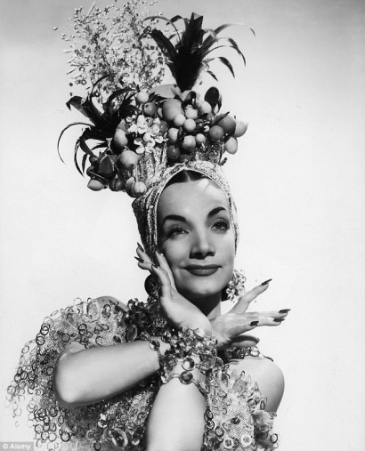 Carmen Miranda with a fruity headpiece!