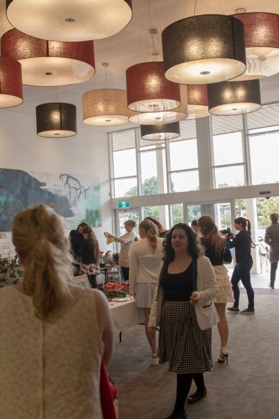 The market's in the foyer of last year's event.