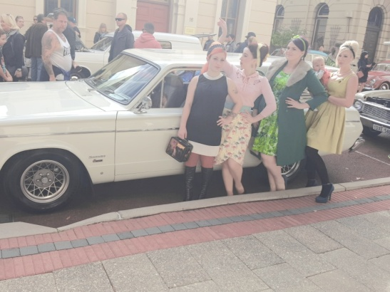 Photo by Jazz at the Freo 1960 event with The Perth Pinup Community.